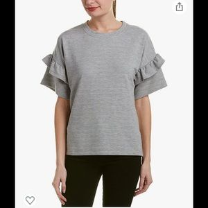 French Connection Sudan Marl Ruffle Sweater grey